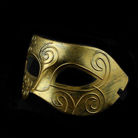 Silver & Gold Ancient style Venetian Men's Masquerade Masks