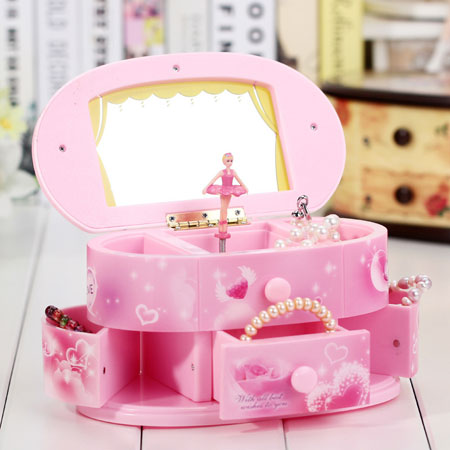 Ballerina Musical Jewelry Box for Girls