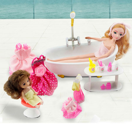 Barbie and Kelly Dolls with Barbie Outfits and Accessories
