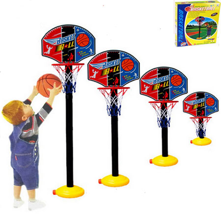 Basketball Toy Set for Toddlers Adjustable Basketball Hoops Kids