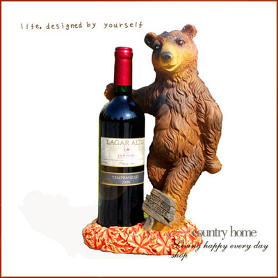 Creative Gift for Housewarming - Bear Wine bottle holder