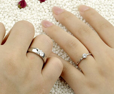 Cheap CZ Sterling Silver Wedding Ring Sets for Men & Women