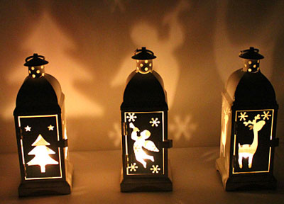 Christmas Candle Lanterns - Vintage Tealight Candle Holders