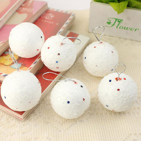 18pcs Snow White Christmas Tree balls Ornaments & Decorations