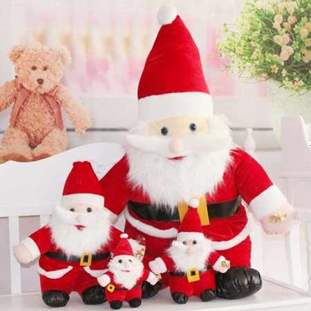 Fabric Santa Clause Decoration for Christmas Party