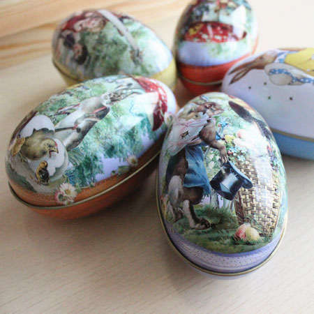 Fairytale Tin Easter Eggs of Alice's in Wonderland for kids