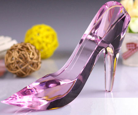 Delicate Cinderella's Crystal Glass Shoe for Valentines Day