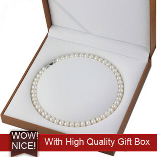 Elegant White Freshwater Pearl Necklace for Mom