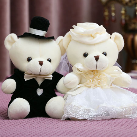 Cute Teddy Bears for Kids or Wedding Car Decorations