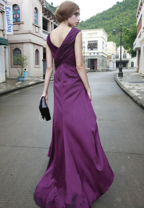 Noble Formal Prom Dresses - Purple occasion Dress