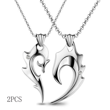 Unique Half Heart Split Heart Necklaces for Couples