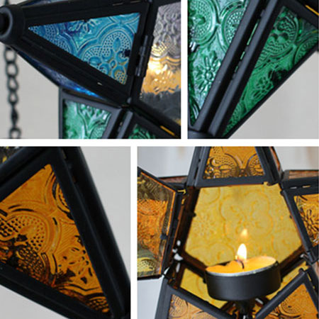 Hanging Tealight Holder Christmas Star Candle Holders