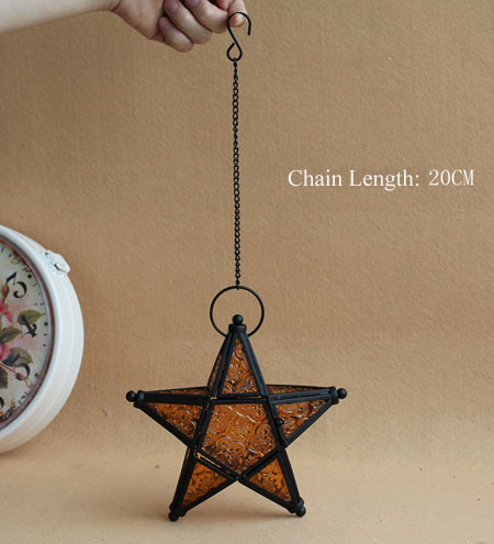 Hanging Tealight Holder-Christmas Star Candle holders