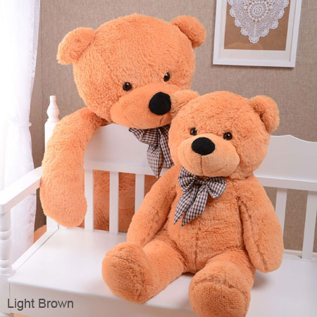Big Brown Stuffed Bear Cute Big Teddy Bears with Bows