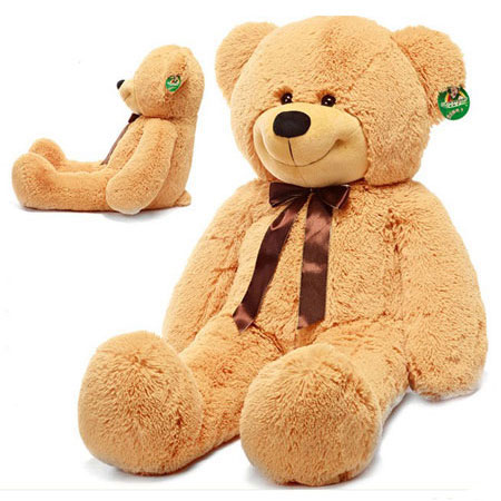 Huge Teddy Bear on Giant Happy Smiling Brown Teddy Bear Huge Stuffed Plush Birthday Toys
