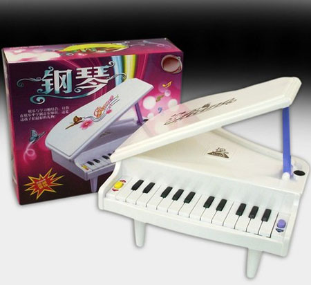 Blue Kids Toy Electronic Piano Keyboard Baby Musical Toys
