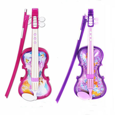 Purple Pink Kids Toy Violin Musical Toy Instruments for Toddlers - Click Image to Close