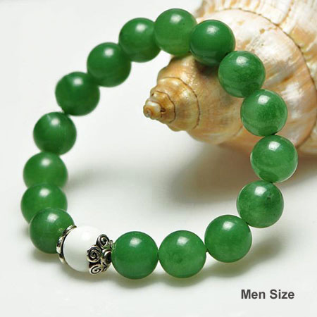 Libra birthstone Green Gemstone Bracelets for Men/Women