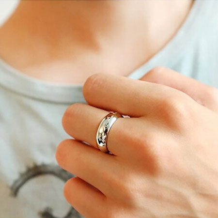 Retro Stainless Steel Magic Ring Necklace for Men