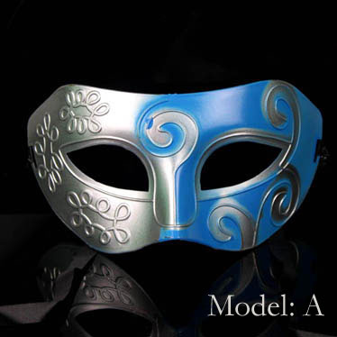 Fancy Cheap Blue and Silver Mardi Gras Masquerade Masks