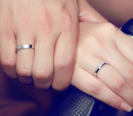 Engravable Sterling Silver Matching Promise Rings For Couples