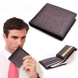 Bifold Brown Leather Front Pocket Wallets for Men