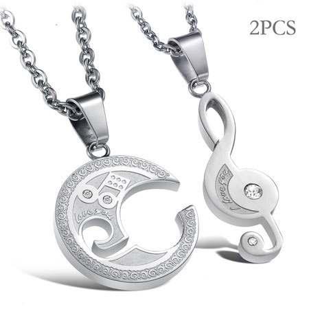 Music Lovers friendship necklaces for couples
