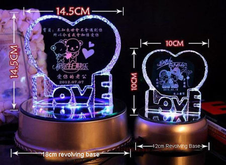 Personalized Wedding Gifts for couple Crystal Love Decoration