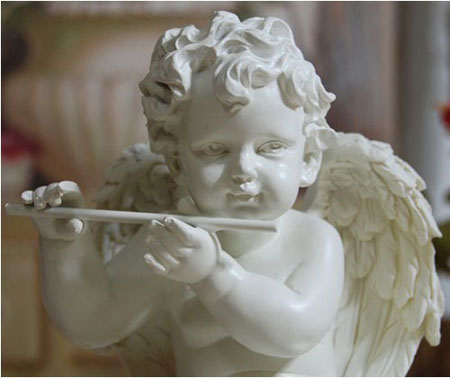 Christening Gifts for Boys with Angle Playing the Flute Figurine