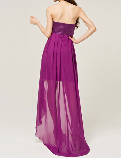 Romantic Purple Wedding Dress-Cheap High Low Prom Dresses