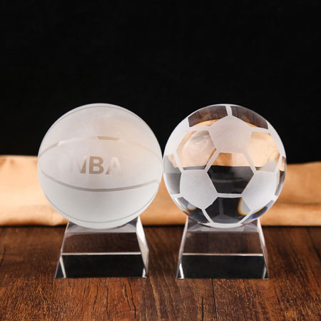 Sports Crystal Soccer Football Basketball Golf Decorations