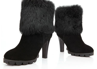 Women Suede Lace Up Fur Ankle Boots on Sale