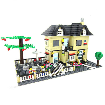 Educational 3D Puzzle Toy House Building Blocks & Bricks for Kid