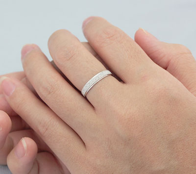 Unique Promise Ring Set Sterling Silver Engravable Rings