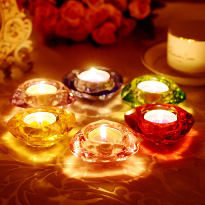 Heart Votive Candle Holder - Clear Glass Tealight Holders