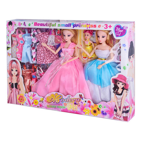Dressed Up Princess Barbie & Ken Family Toys