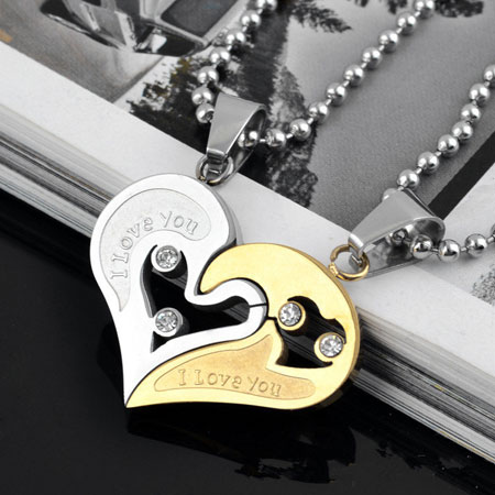 Broken Heart Couples Necklace You Broken Heart Necklaces