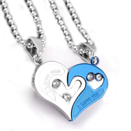Broken Heart Couples Necklace Couple Necklace Broken
